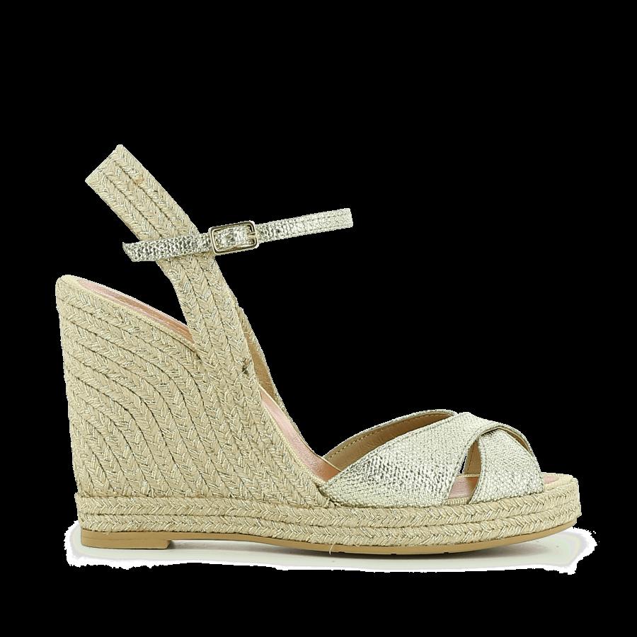 Sandale compensée en cuir 387